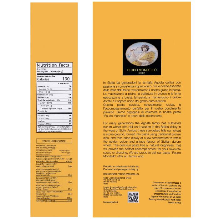 info nutrizionali pasta